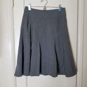GRACE ELEMENTS gray pinstripe aline skirt